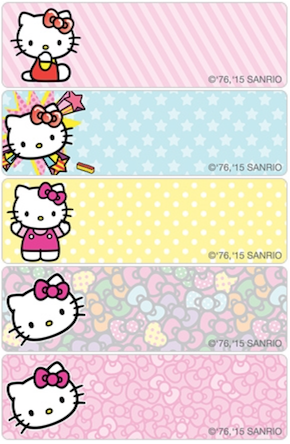 Hello Kitty Labels